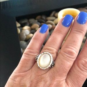 Michael Dawkins SS Mother of Pearl stone ring